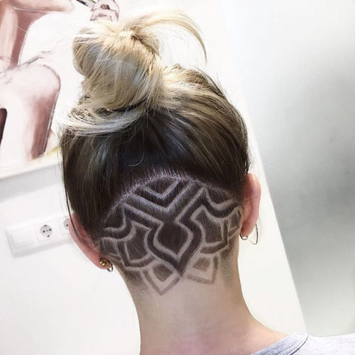 Undercut Girl Long Hair