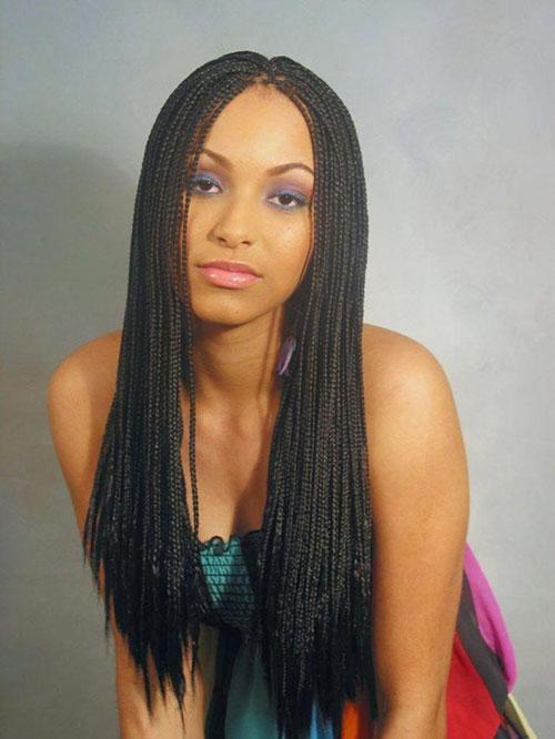Long Individual Braids Hairstyles