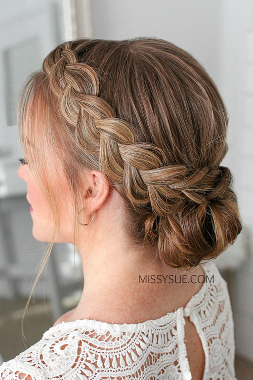 Braided Hairstyles In A Bun