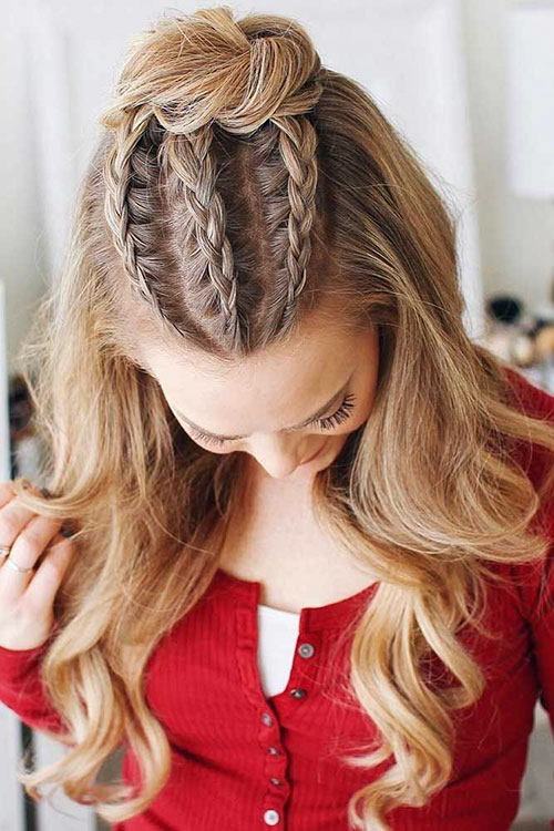 Braided Hair With Bun