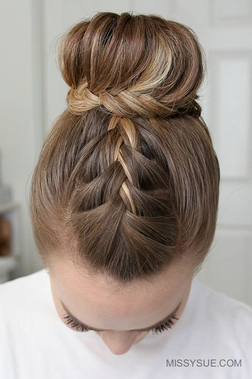 Braided Bun Styles
