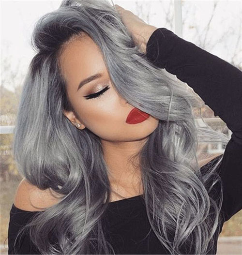 Black And Grey Hair Color