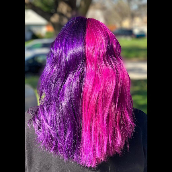 Hairstyles For Purple Hair