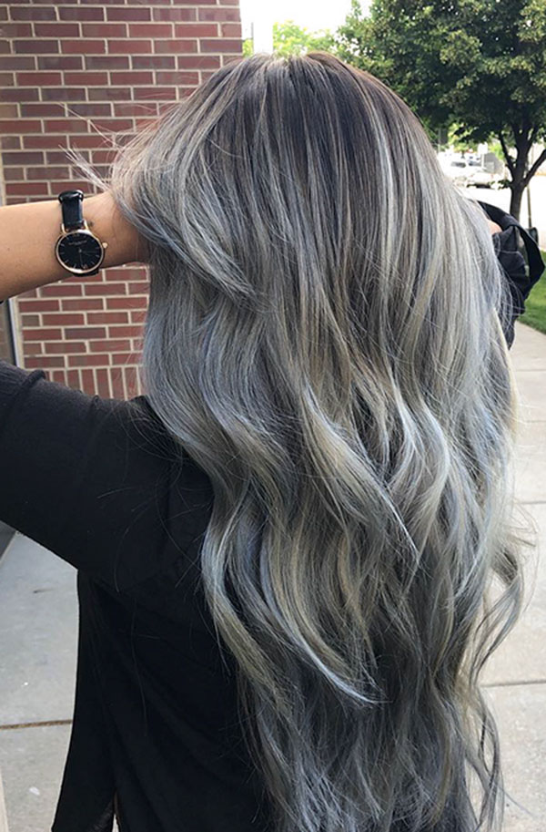 Cool Grey Hair