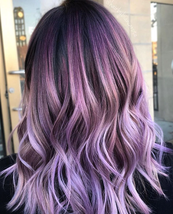 Pictures Of Purple Hair