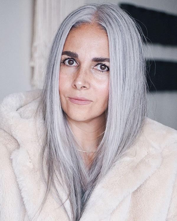 Iamges Of Grey Hair Color