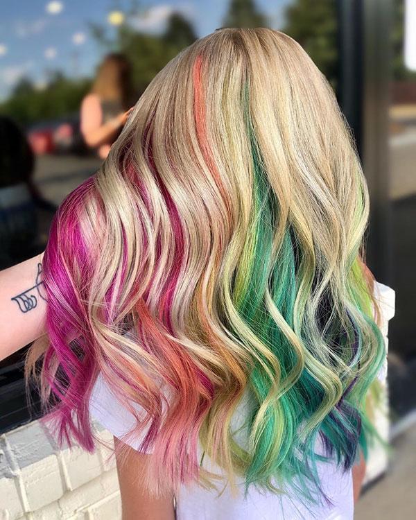 Nice Rainbow Hair
