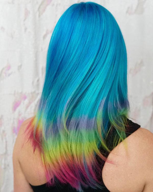 Hot Rainbow Hair