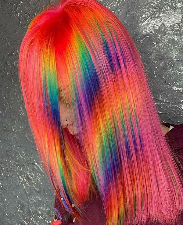Best Rainbow Hair Color