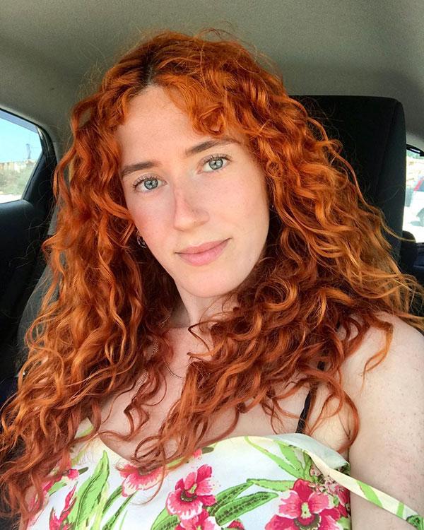 Heiße rote Haarfarbe