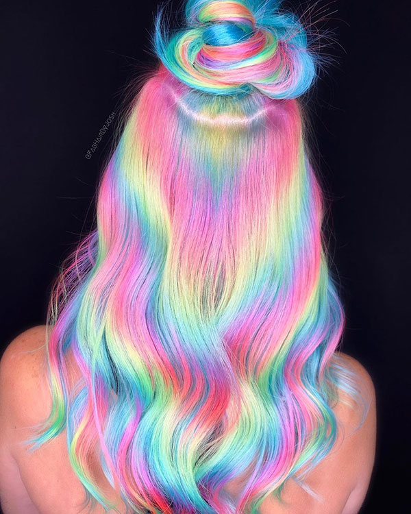 Rainbow Hair Pics