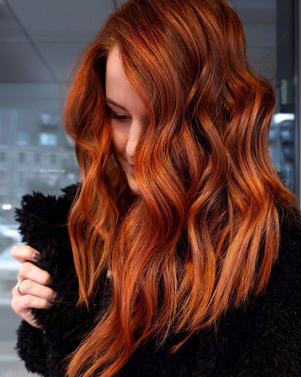 Rote Haarfarbe Ideen