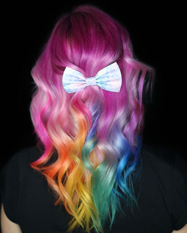 Rainbow Hair Color Images