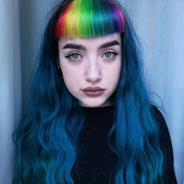 Pictures Of Rainbow Hair